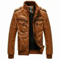 Jaket KuLit slimfit ariel slim fit list merah Hitam Size Ukuran M L XL