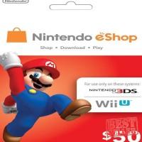 Jual Ready - Game Console - (50 USD) Nintendo eShop Switch / 3DS / Wii U - Murah