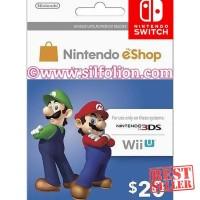 Jual Ready - Game Console - Nintendo eShop $20 3DS Wii U Switch Murah