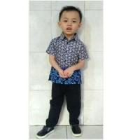Baju Bayi Laki Laki Setelan Kemeja Batik Bayi baju Kondangan Bayi B