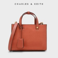 Harga sag4351 orange charles and keith strutured top handle | antitipu.com