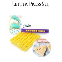 Cetakan Huruf Abjad Angka Fondant Cookies Stamp Press Letter Number