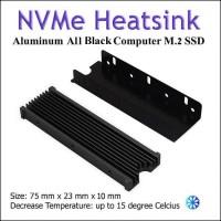 Heatsink M.2 SSD NVMe SATA Cooler Warship Design (BLACK)