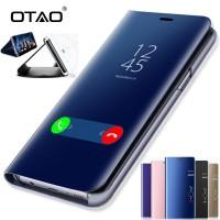W Case 115 - Otao Jelas Melihat Smart Ponsel Cermin Case untuk Samsung