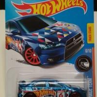Hotwheels lancer evolution biru