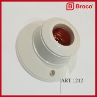 BROCO 1212 STD Ceiling Lamp Holder Cream - Fitting / Rumah Lampu E27