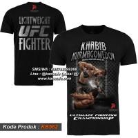 Kaos UFC Rebook Khabib Nurmagedov, T shirt UFC, Baju MMA KB452