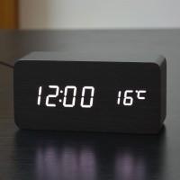 Jam Waker Kayu 858 / LED Digital Wood Clock - JK-858