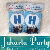 Banner HBD Frozen / Bunting Flag Frozen - Jakarta Party