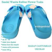 Sandal Branded Wanita Flower toska