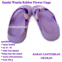 Sandal Branded Wanita Flower ungu