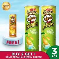 [Buy 2 Get 1] Pringles Sour Cream & Onion 107g FREE Cheesy Cheese 107g