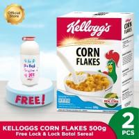 Kelloggs Corn Flakes 500gr FREE Lock & Lock Botol Sereal
