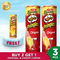 [Buy 2 Get 1] Pringles Original 107 FREE Pringles CheesyCheese 107 - P