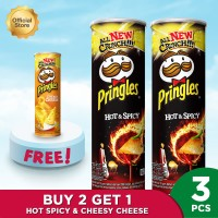 [Buy 2 Get 1] Pringles Hot & Spicy 107g FREE Cheesy Cheese 107g - P