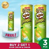 [Buy 2 Get 1] Pringles Sour Cream & Onion 110g