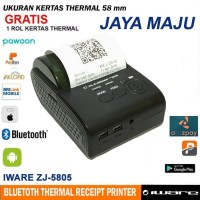 Printer Receipt Mini Portable Bluetooth Thermal IWARE ZJ-5805