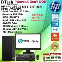 HP PRO 280 G3 MT - HPDT2WB79PA Core i3-7100/4GB/1TB/DVDRW/DOS/3YR