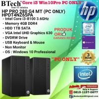 HP PRO 280 G4 MT - HPDT4NZ65PA Core i3-8100/4GB/1TB/Win10Pro PC ONLY