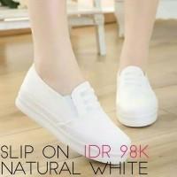 Women Shoes Slip On Natural White