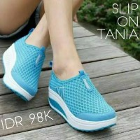Women Shoes Slip On Tania Blue