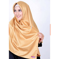 Jual Jilbab Segi Empat Rinjani Klim Embos Velvet warna GOLD