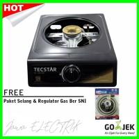 Tecstar Kompor Gas TG-388CSR (1 TUNGKU) SNI + Paket Selang Regulator S