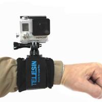 Original Telesin Velcro Wrist Band Mount 360 GoPro Xiaomi Yi Cam