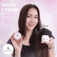 Mellydia Night Cream Krim Pemutih Wajah Malam Hari Bersih & Natural