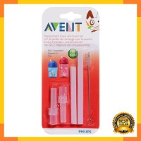 Jual Philips AVENT Replacement Straw Cups with Brush SCF764/00 - Putih Murah
