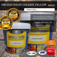 Cat Kayu Besi Cepat Kering Orchid Enamel Paint Solid - Golden Yellow