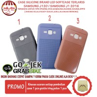 Murah Meriah Case Samsung J1 20 2016 Motif Brand Led Flash Softcase Hp