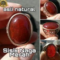 Woww Keren - Cincin Natural Sisik Naga Merah Top Kristal