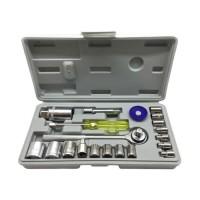 Harga bangunan kunci socket wrench 1 set 21 pcs alat tukang   antitipu.com