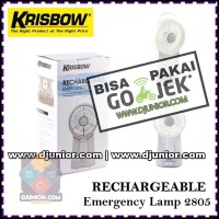 KRISBOW - RECHARGEABLE LAMP EMERGENCY 2805 - LAMPU KIPAS ANGIN Limited