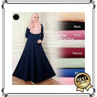 Baju Gamis Syar'I Polos Basic Jersey Import Busui Friendly Jumbo