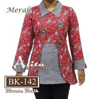 Atasan Batik Wanita Blouse Batik Baju Kemeja Wanita 02