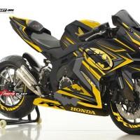 Decal stiker Honda CBR250RR Livery Batman black Yellow Version