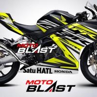 Decal Stiker Honda CBR250RR livery BLACK FREEDOM RACING YELLOW