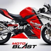 Decal Stiker Honda CBR250RR livery Black Freedom Sport Red