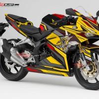 Decal Stiker Honda CBR250RR livery Bee Yellow Motoblasst FULLBODY