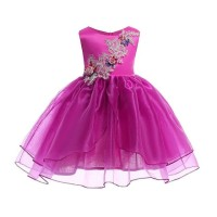 GA2701 MARGO DRESS FUSCHIA .. BAJUKIDDIE DRESS ANAK PESTA GAUN IMPORT