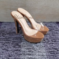 sandal high heels transparan stanliano 302 camel