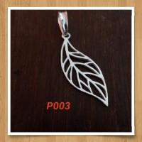 Handmade Pendan Liontin Bahan Silver 925 Jogja Motif P003