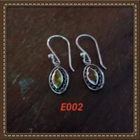 Handmade Anting-anting Bahan Silver 925 Jogja Motif E002