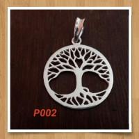 Handmade Pendan Liontin Bahan Silver 925 Jogja Motif P002