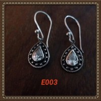 Handmade Anting-anting Bahan Silver 925 Jogja Motif E003