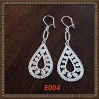 Handmade Anting-anting Bahan Silver 925 Jogja Motif E004