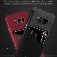 Samsung galaxy s8 Canvas back cover wallet leather premium case (S8)