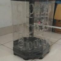 Tempat Jam Tangan Putar/Acrylic Jam Tangan Putar/Display Jam Tangan